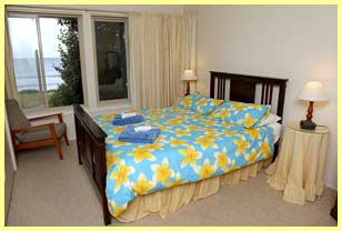 Main queensize bedroom at Eastern Sands